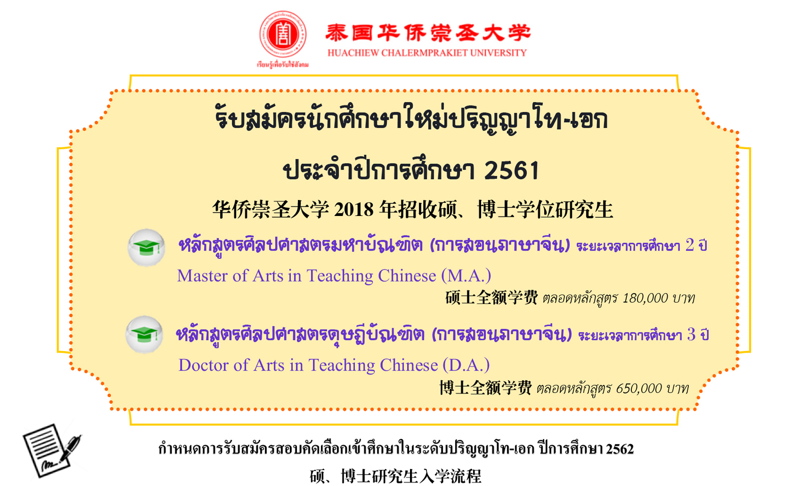 Graduate Program in Teaching Chinese 2019